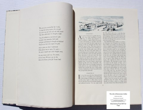 The Life of Benvenuto Cellini, Limited Editions Club, Sample Illustration #2 with Text