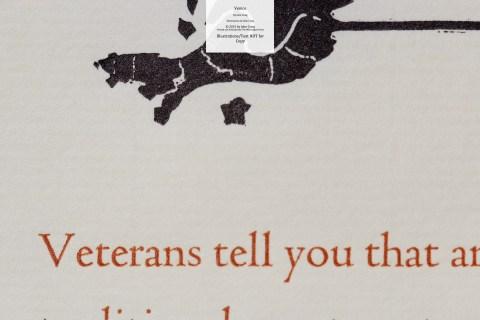 Venice, Whittington Press, Macro of Text