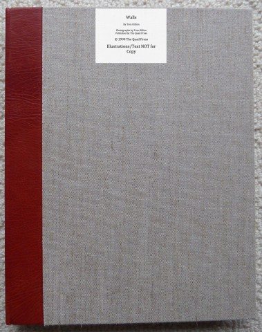 Walls, Quail Press, Cover
