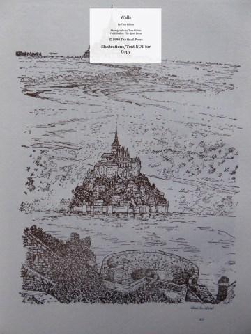Walls, Quail Press, Sample Illustration #6 - Mont St. Michel, Normandy, France