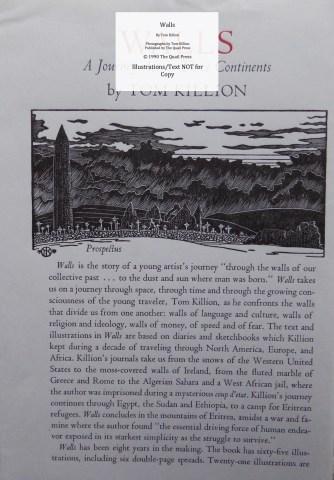 Walls, Quail Press, Prospectus #1