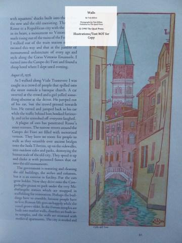 Walls, Quail Press, Sample Illustration #14 - Calle dell Lovo, Venice, Italy