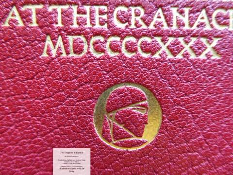 Hamlet, Cranach Press, Macro of Cover #2