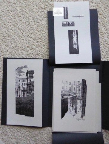 Venice, Whittington Press, 'A' edition - Samples from Suite of Prints