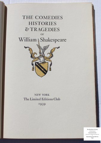 King Henry IV, Parts I and II, Limited Editions Club, Series Title Page