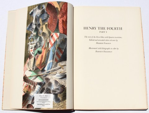 King Henry IV -Parts I, Limited Editions Club, Frontispiece and Title Page