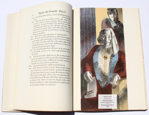 King Henry IV -Part I, Limited Editions Club, Sample Illustration #1 with Text