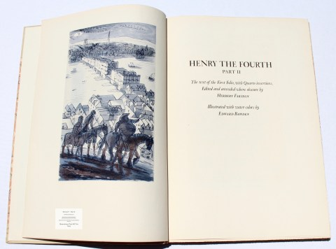King Henry IV -Part II, Limited Editions Club, Frontispiece and Title Page