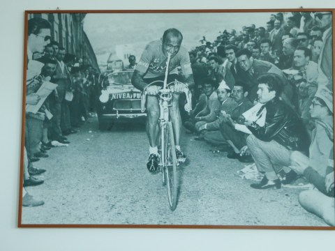 Cycling museum #4 - vintage race photo during a steep climb