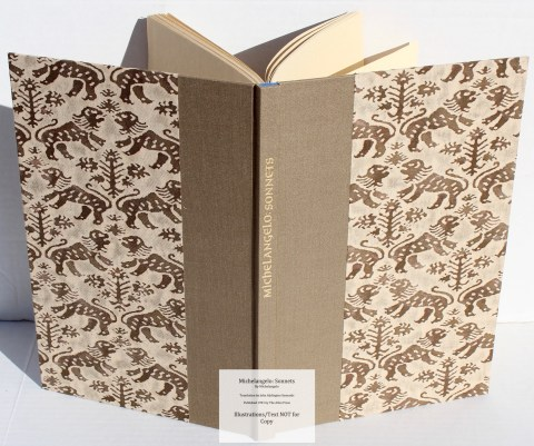 Michelangelo: Sonnets, Allen Press, Spine and Covers