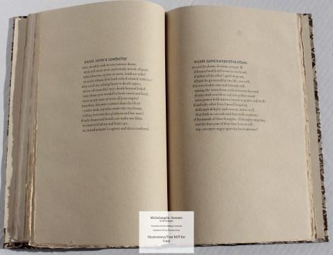 Michelangelo: Sonnets, Allen Press, Sample Text #5