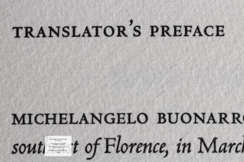 Hard High-Country Poems Peter Koch Printers, Macro of Sample Text #1