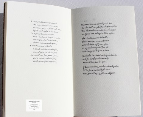 Hard High-Country Poems Peter Koch Printers, Sample Text #5