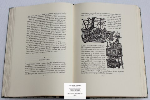 The Toilers of the Sea, Limited Editions Club, Sample Illustration #4 with Text