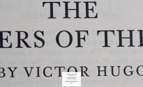 The Toilers of the Sea, Limited Editions Club, Macro of Title Page