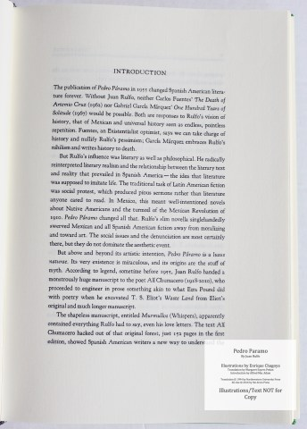 Pedro Paramo, Arion Press, Sample Text #1