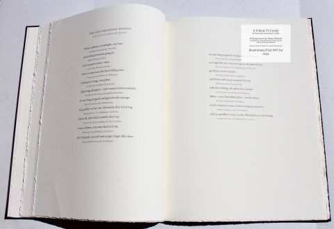 A Tribute to Cavafy, Limited Editions Club, Sample Text #1