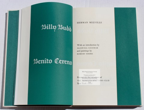 Billy Budd and Beneto Cereno, Limited Editions Club, Title Page