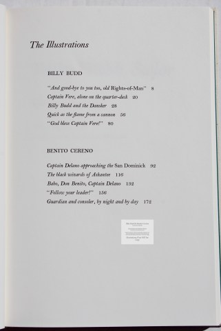 Billy Budd and Beneto Cereno, Limited Editions Club, Sample Text #1