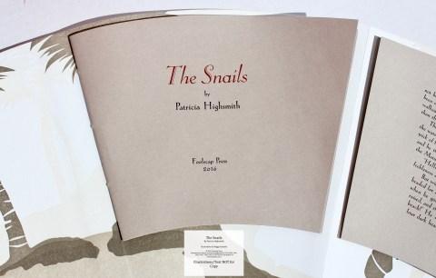 The Snails, Foolscap Press, Title Page