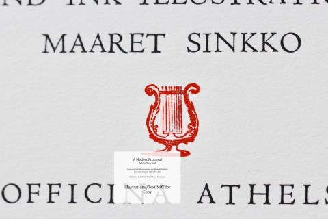 A Modest Proposal, The Officina Athelstane, Macro of Title Page #2