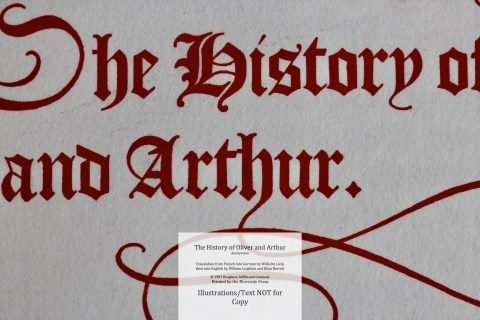 The History of Oliver and Arthur, Riverside Press, Macro #1 Title Page