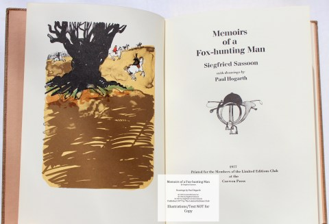 Memoirs of a Fox-hunting Man, Limited Editions Club, Frontispiece and Title Page