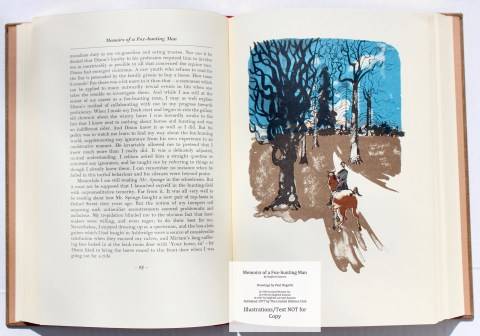 Memoirs of a Fox-hunting Man, Limited Editions Club, Sample Illustration #7 with Text
