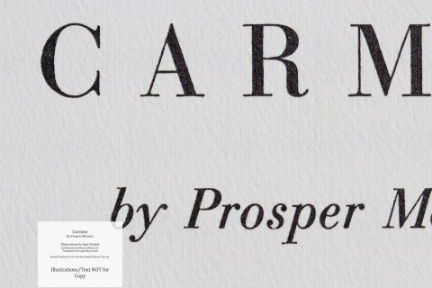 Carmen, Limited Editions Club, Macro of Title Page