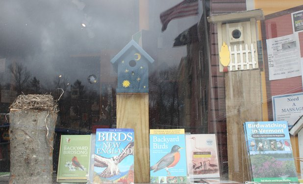 Birdhouse in our Bookstore 1 | The Book Nook, Ludlow, VT