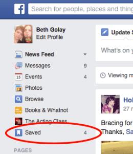 SaveInFacebookList