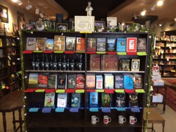 Advent Calendar Display of Books | Murder by the Book, Houston, TX