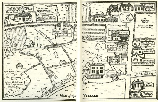 Milly Molly Mandy map of village