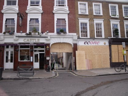 Shops in Ledbury Road are boarded up