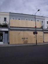 Shop and roof terrace boarded up