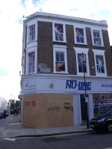Hardware shop boarded up