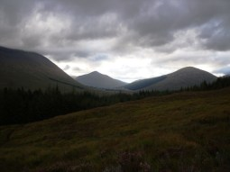 View of the munros in the morning