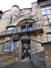 Main entrance of the Glasgow School of Arts