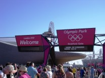 Stratford entrance to the Olympic Park