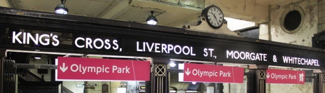 Olympic signage at Baker Street