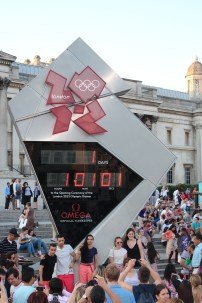 Olympic countdown clock with 1d, 1h, 1m, 1s to go