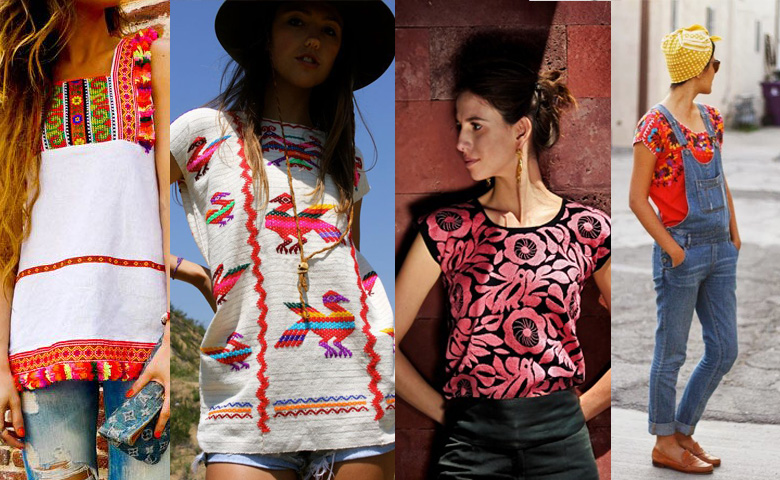 Woven mexican blouses