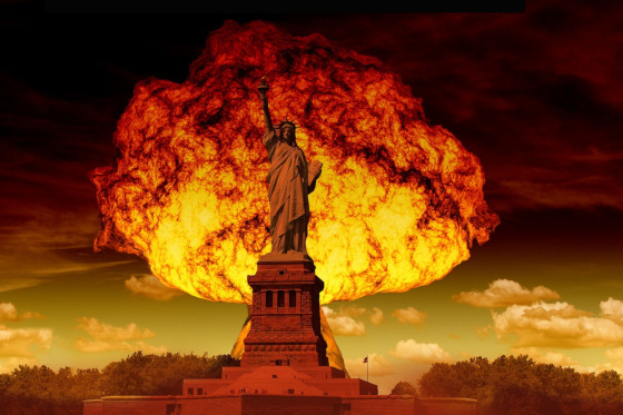 Starting Wars: Statue of Liberty with a Mushroom Cloud