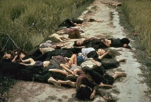My Lai Massacre, dead children and women.