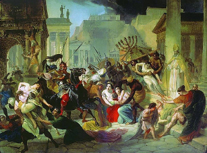 One of several times Rome was sacked in the 5th century.