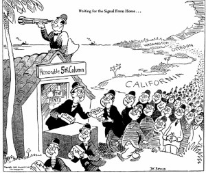 Waiting for the Signal from Home... Images such as this one fed into the fear that created the Japanese internment camps during WWII.