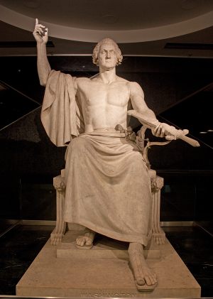 Heroic George Washington, Horatio Greenough 300