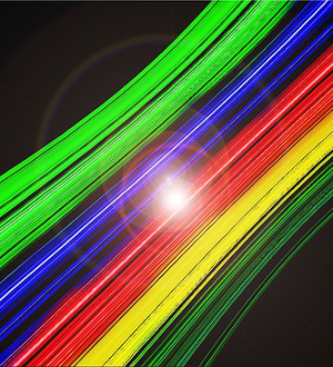 Color Illusions, Fiberoptic Cable