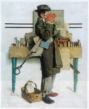 Norman Rockwell, The Bookworm