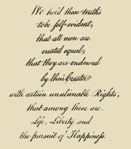 Unalienable rights are really alienable rights